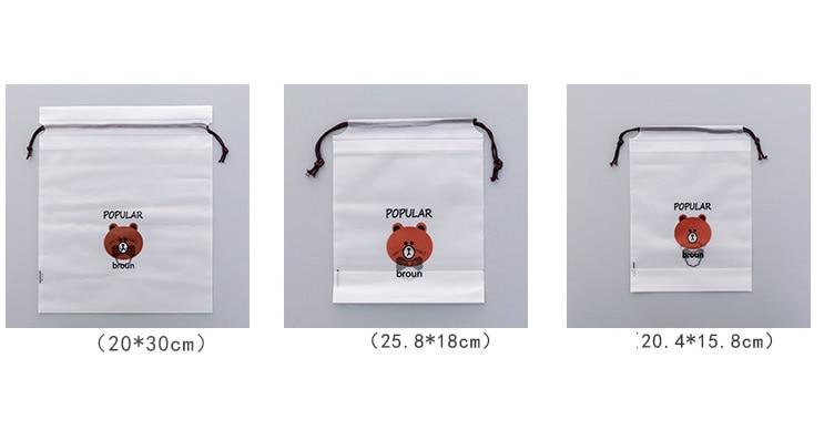 Brown Bear Transparent Cosmetic Bag Travel Makeup Case 2