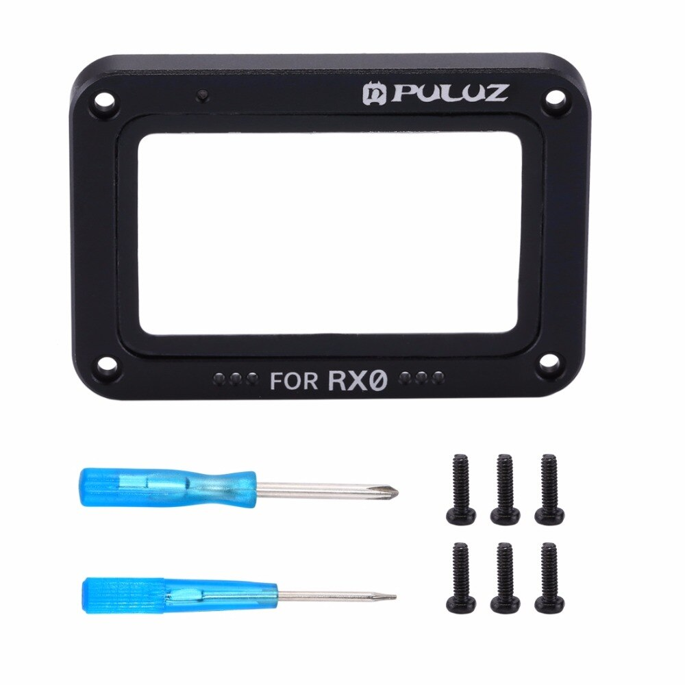 PULUZ for Sony RX0 /RX0 II Aluminum Alloy Flame+Tempered Glass Lens Protector & Screws and Screwdrivers For Sony RX0 Accessories 10